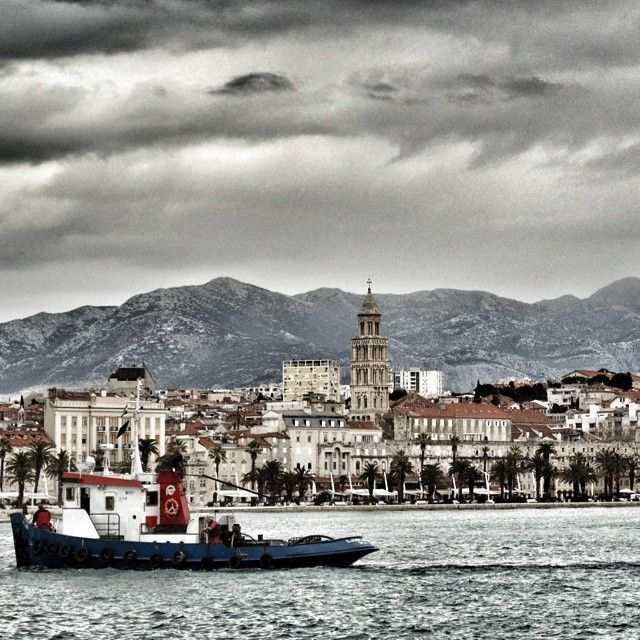 Dramatic clouds over Split
