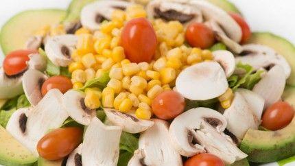سلطة الأفوكادو والفطر Recipe Vegetarian Dishes Recipes Food