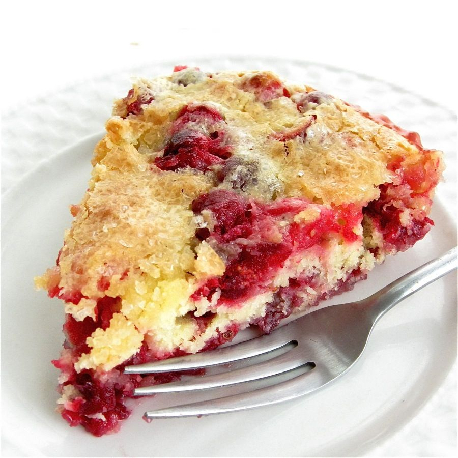Nantucket Cranberry Cake: This site not only shows the harvesting process and this recipe but also lists over 80 cranberry recipes and 10 call for fresh cranberries.