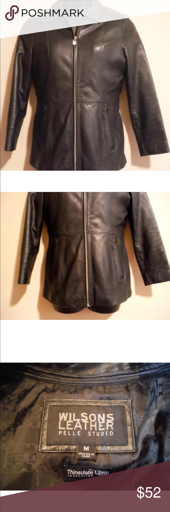 Wilson Leather Pelle Studio Womens Size M Jacket Wilsons