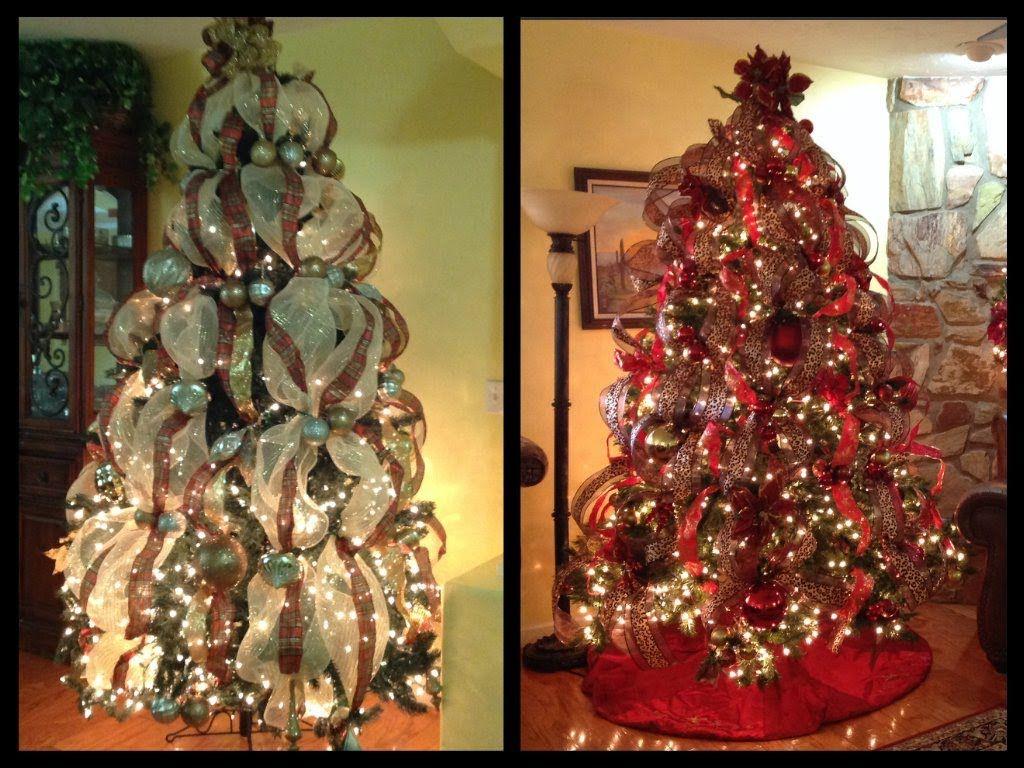 Como Decoro Mi Arbol De Navidad Con Cintas Arbol De Navidad Decoracion Navidena Arboles De Navidad Decorados