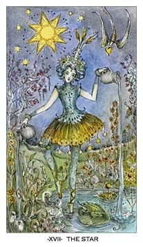 The Star from the Paulina Tarot  I have these, they are exquisitely beautiful. I love using them.
