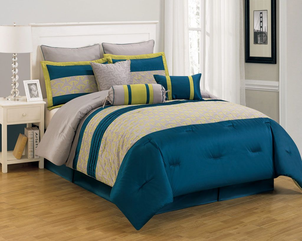 piece carter blue and yellow comforter set in masterpiece