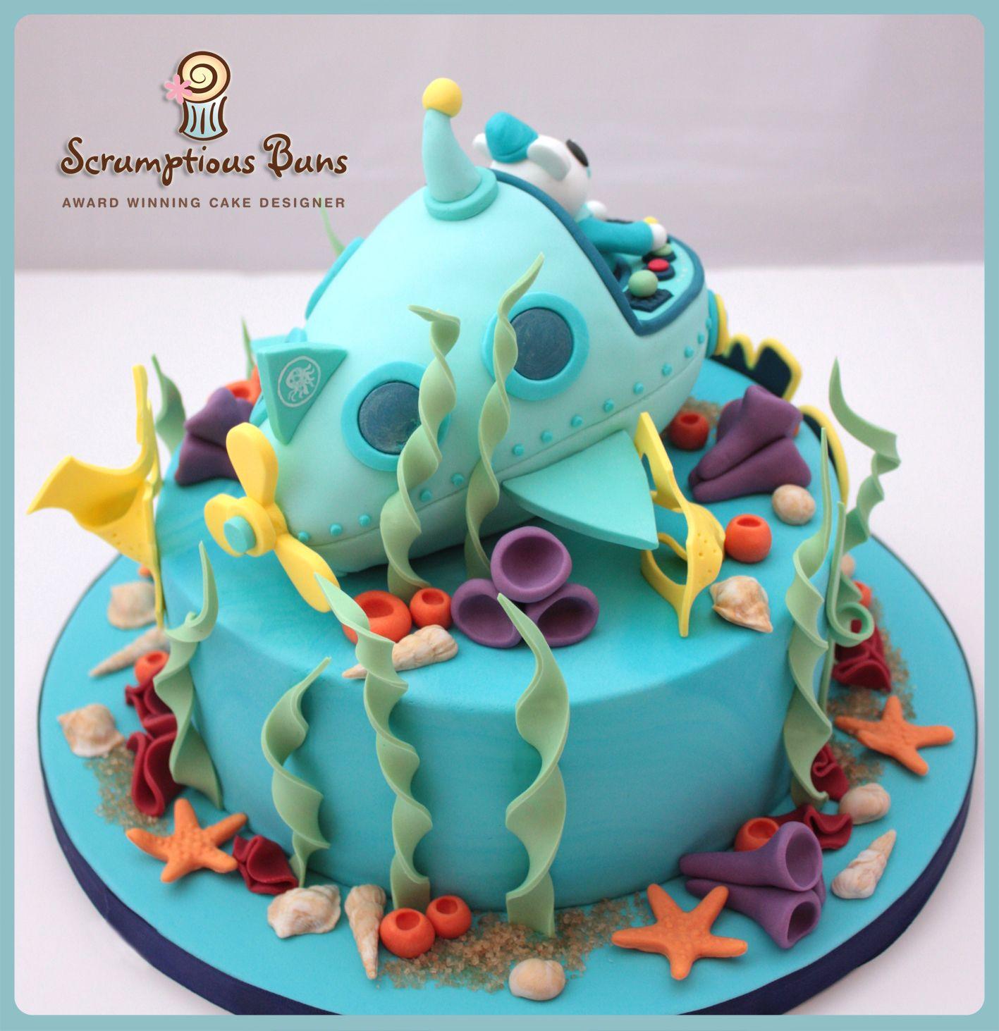 Octonauts Birthday Cake 8 Chocolate Fudge Cake with Submarine