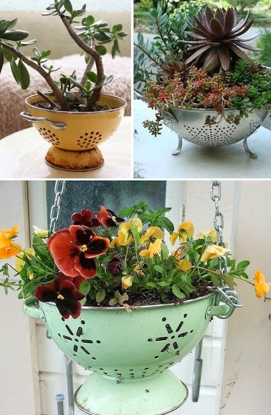 Taman Bunga Minimalis : taman, bunga, minimalis, Kreatif, Bunga, Tanaman, Barang, Bekas, Bunga,, Proyek, Taman,, Taman, Vintage