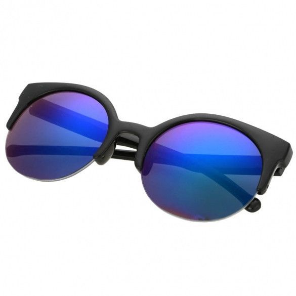 4e5a8ac948 Fashion Unisex Retro Designer Super Round Circle Cat Eye Semi-Rimless  Sunglasses Glasses Goggles