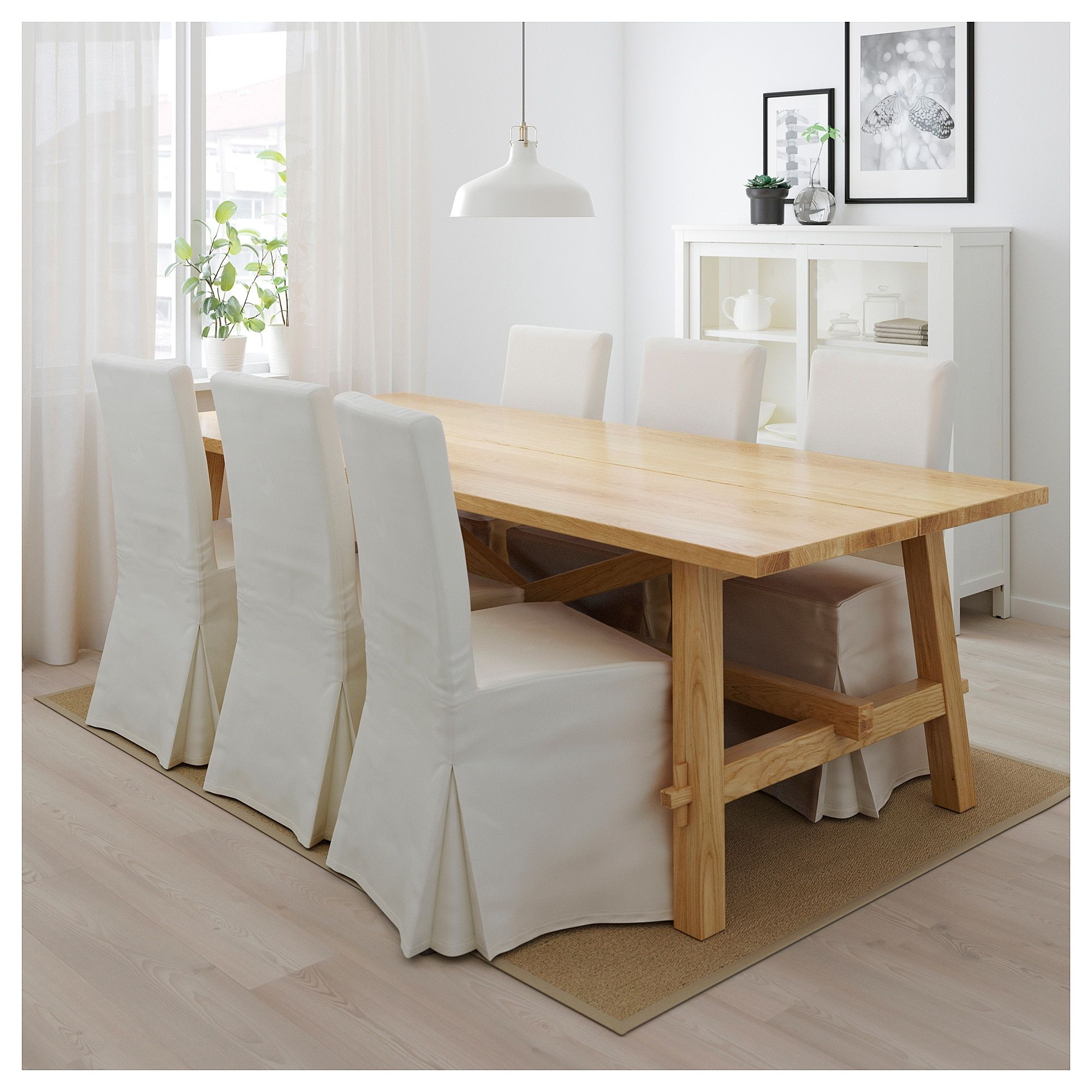 Wondrous Ikea Mockelby Table Oak Cabin Ideas Oak Table Ikea Evergreenethics Interior Chair Design Evergreenethicsorg