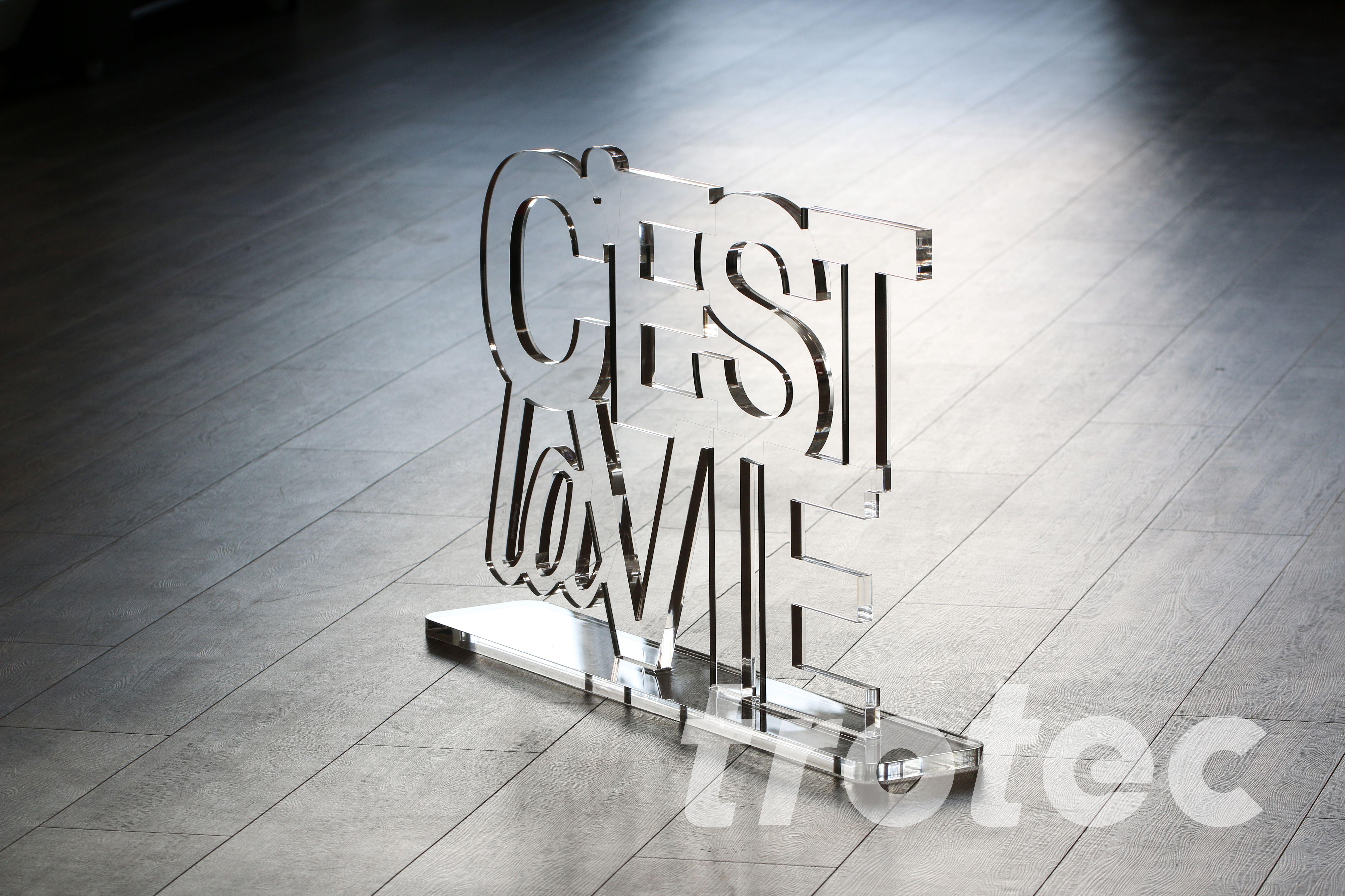Acrylglas C Est La Vie Lebensmotto Spruch Acrylglas Acryl Gravur Maschine