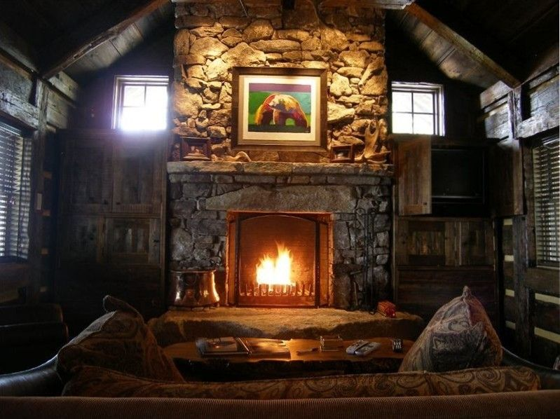 Shire Cabin Al The Large Wood Burning Fireplace Has