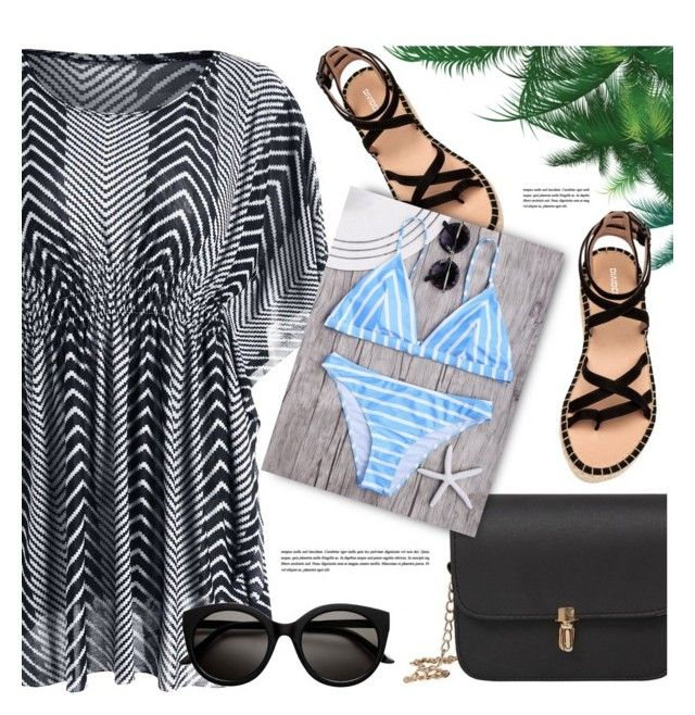 """Beach Walk"" by monmondefou ❤ liked on Polyvore"