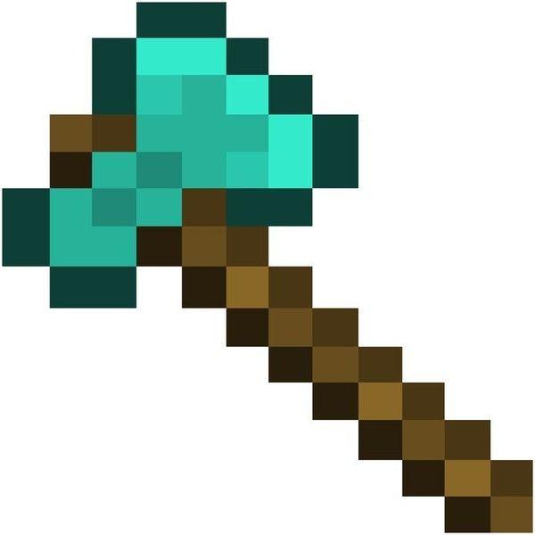 Diamond Axe Life Size Minecraft Pinterest Liked On Polyvore Featuring Minecraft Minecraft Pixel Art Minecraft Clipart Minecraft Beads
