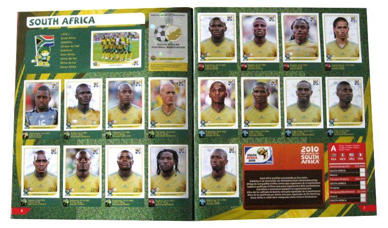 Panini Checkliste WM 2010 Südafrika Sticker eingeklebt