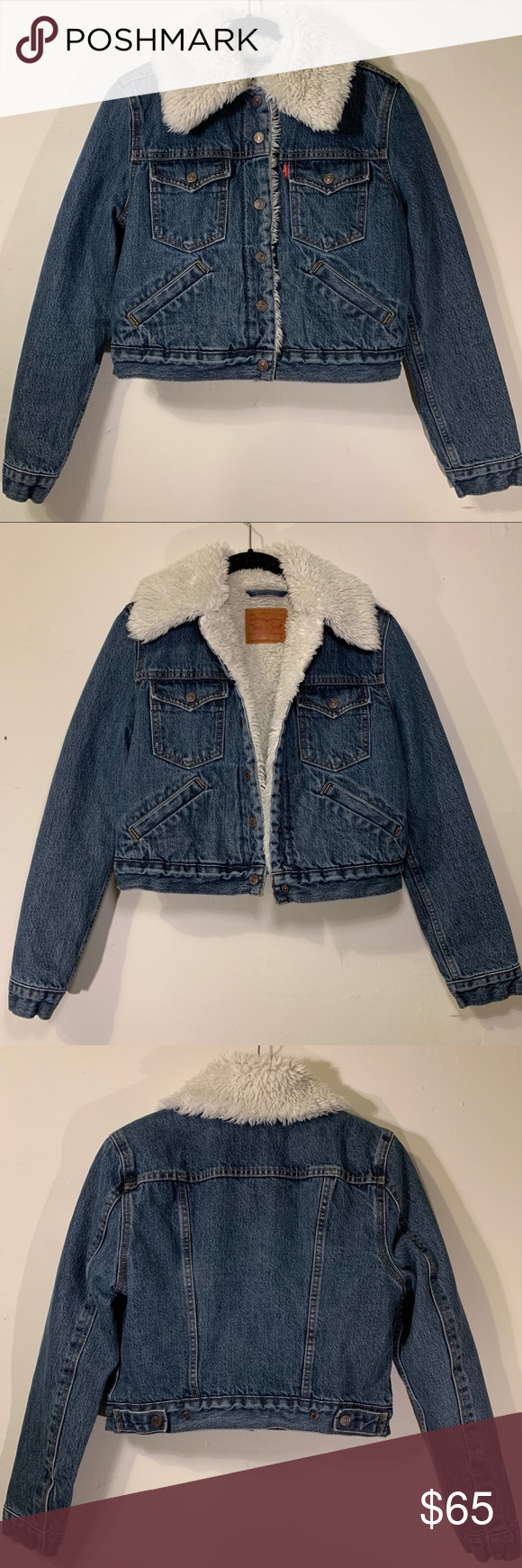 Women S Levi S Sherpa Warm Denim Jean Jacket Small Women S Levi S Sherpa Warm Heavy Cropped Jean Jacket Size Wo Denim Jean Jacket Jean Jacket Crop Jean Jacket [ 1740 x 580 Pixel ]