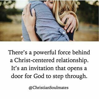 And when God steps through it... All flows well and spiritual growth happens for both her and him!