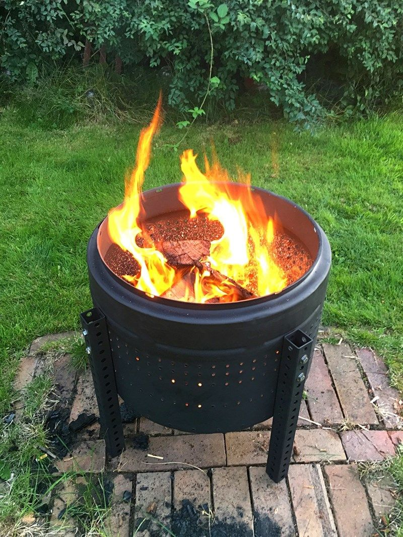Make Your Own Fire Pit With Just A Few Recycled Materials