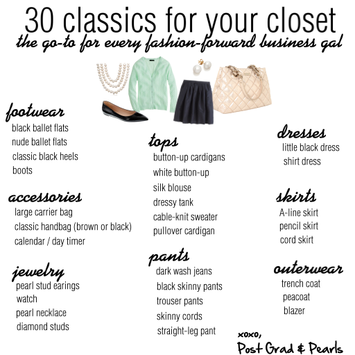how to build a classic work wardrobe