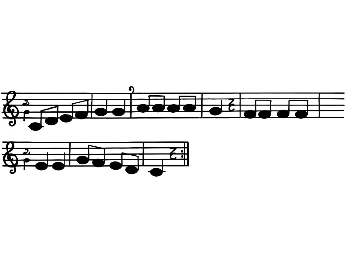 Con esta sencilla canción damos la bienvenida a los alumn@s a clase y les iniciamos en las notas musicales (DO - SOL) en modo descendente....