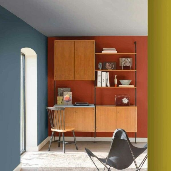 Denim Drift Wall Color Mixed With Autumn Color Dulux Colour Denim Drift Blue And Yellow Living Room