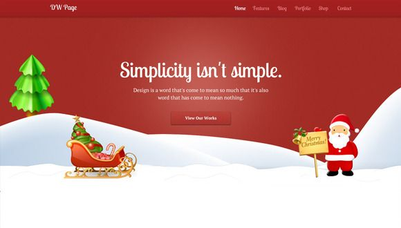 Check out DW One Page Christmas - WP Theme by designwall_com on ...