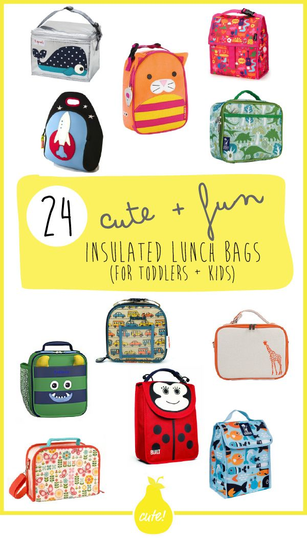 24 Cute + Fun Insulated Lunch Bags (for Toddlers + Kids
