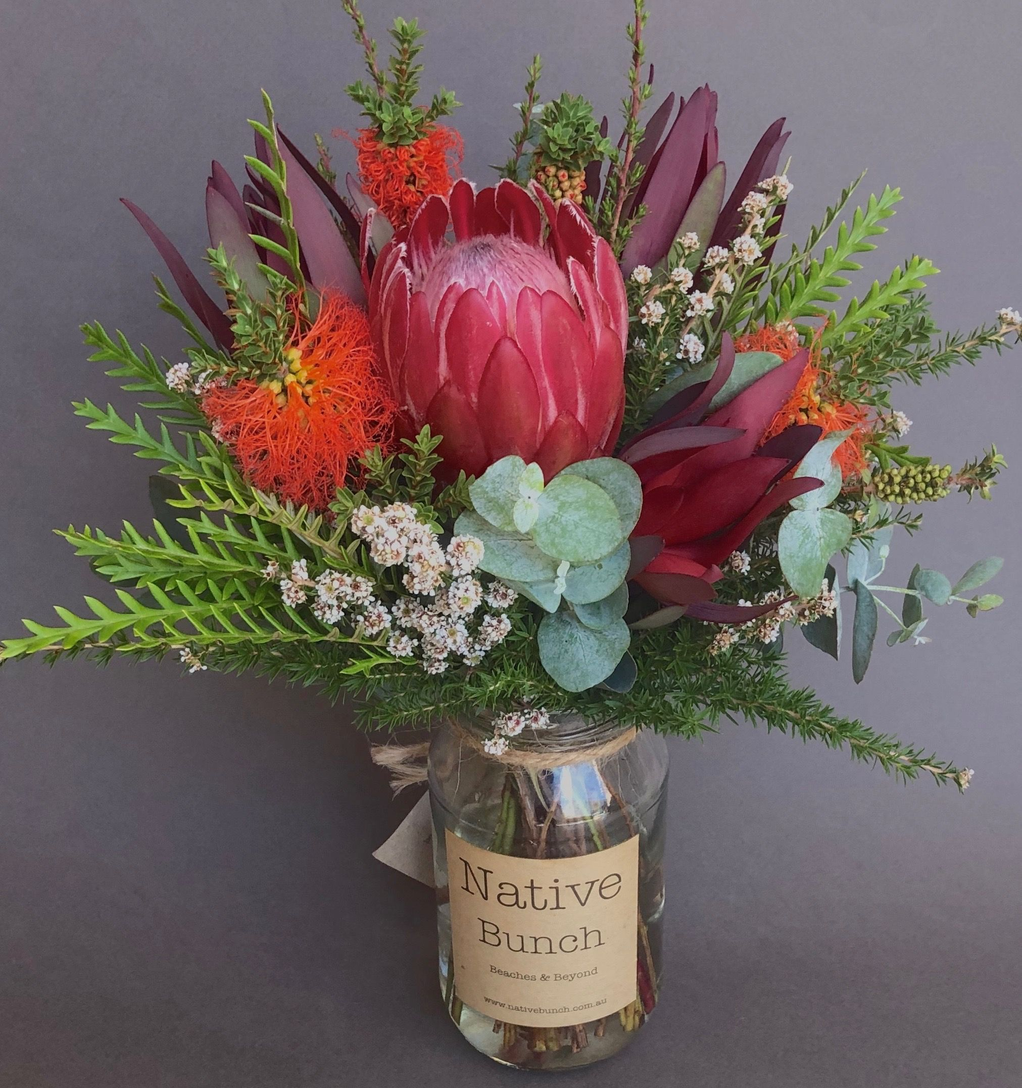 Sydney native flower delivery. This week's posy Protea