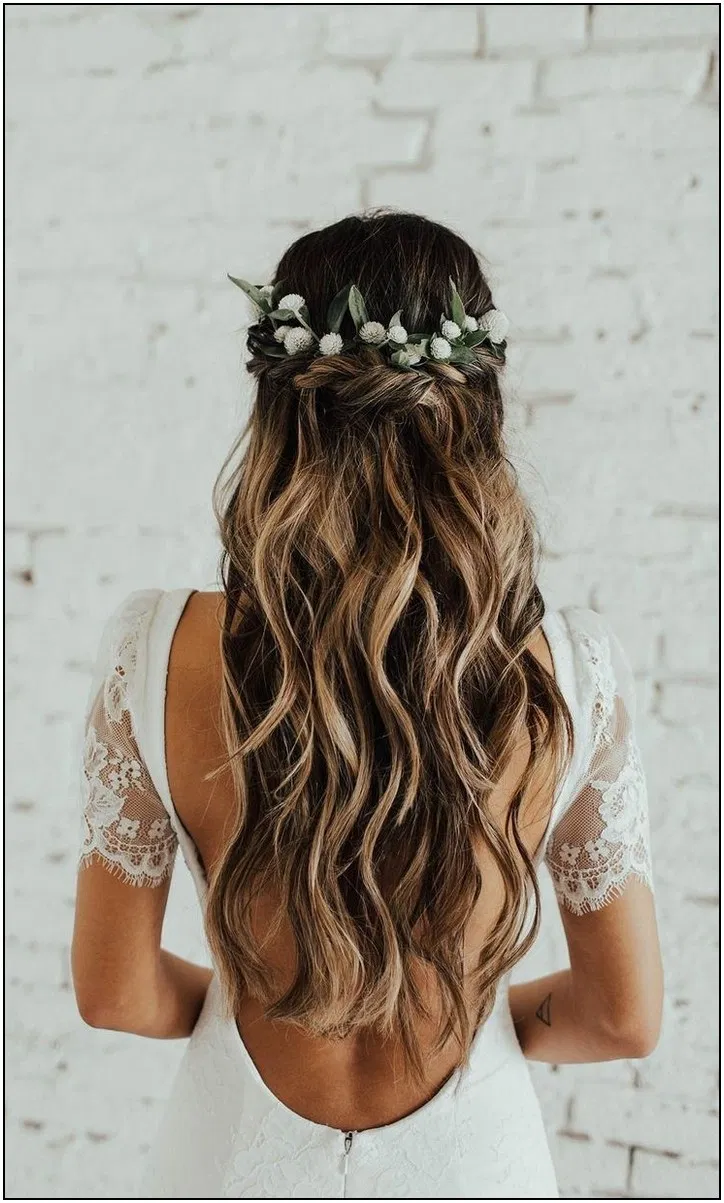158 Pinterest Wedding Hairstyles For Your Unforgettable Wedding 21 Cynthiap Wedding Hairstyles For Long Hair Wedding Hair Inspiration Flower Crown Hairstyle