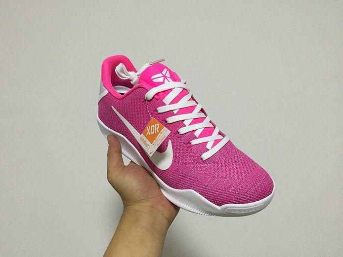 Kobe 11 Flyknit Think Pink Kay Yow Storm Pink  69725e8f2
