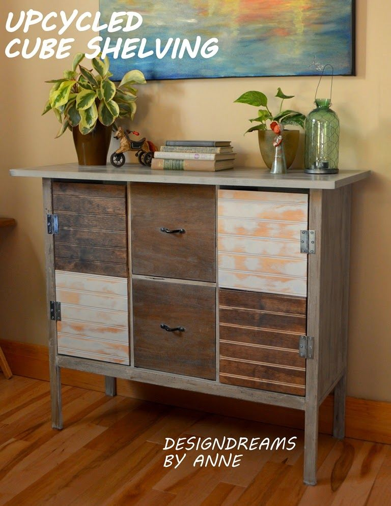 Designdreams By Anne Upcycling An Upcycled Cube Shelf