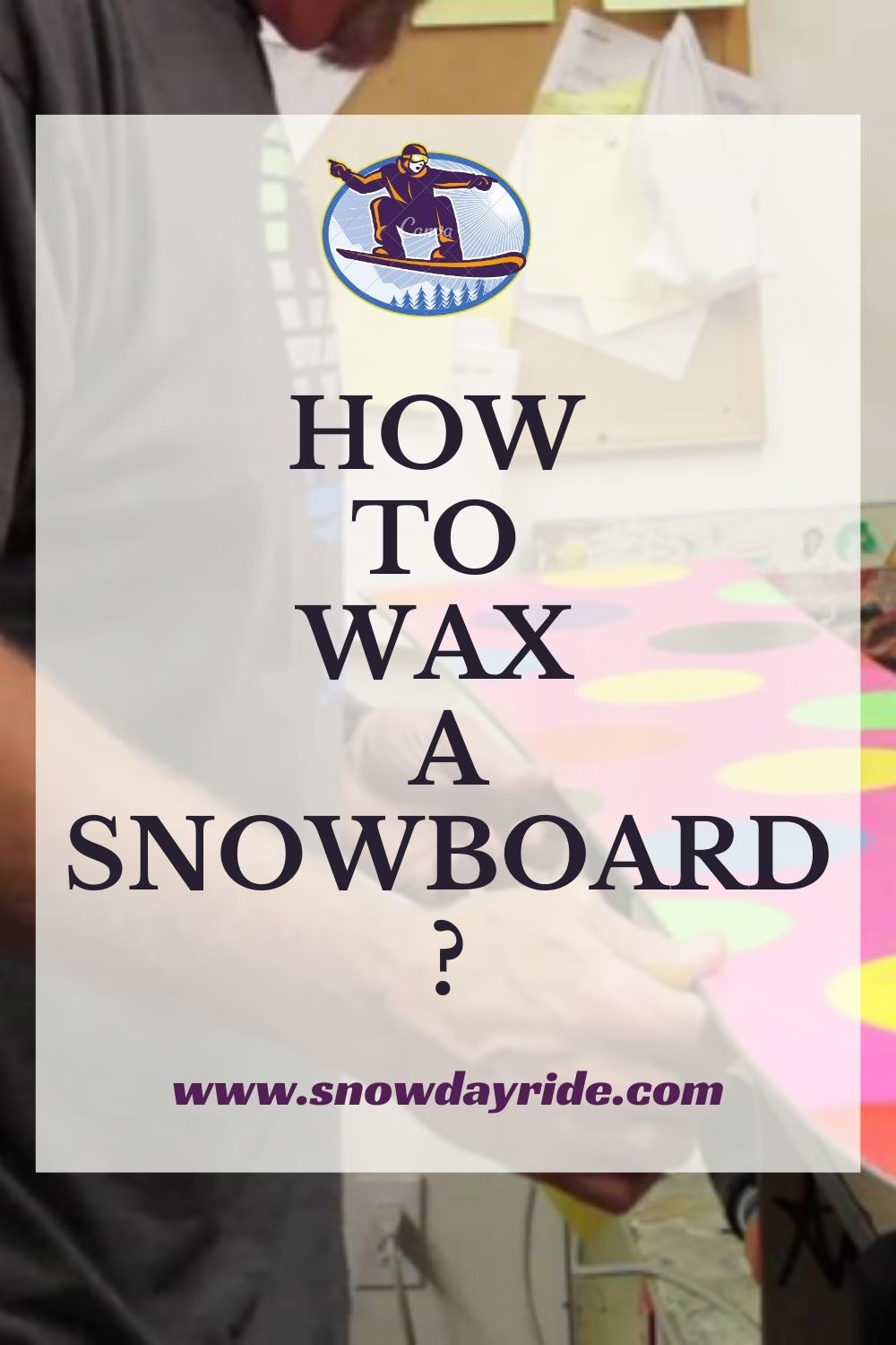 How to Wax a Snowboard? in 2020 Snowboard, Wax, How to get