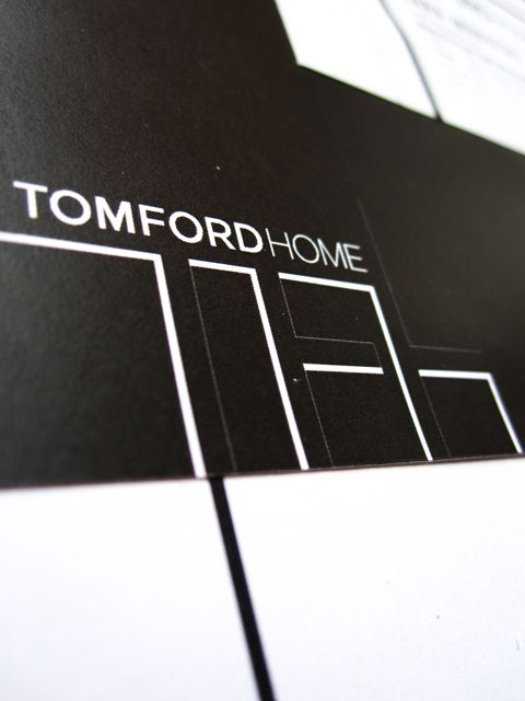 308fb9bbf935 Brand extension identity for Tom Ford Home including stationary ...
