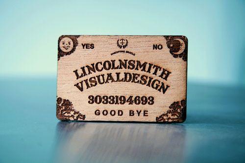 Ouija Board Business Card Nice