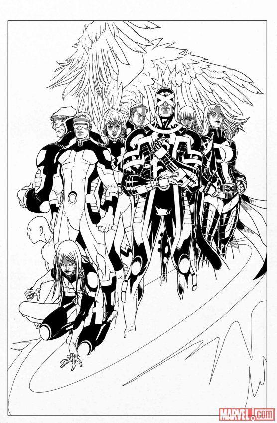Xmen No More Humans Preview Art By Salvadorlarroca Comic Illustration X Men Comic Books Art