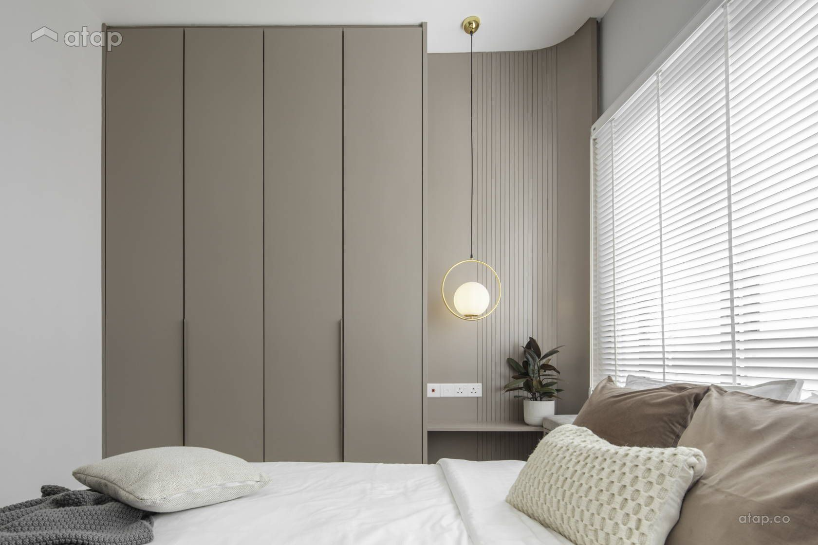 Minimalistic Scandinavian Bedroom Condominium Design Ideas Photos Malaysia Atap Co In 2020 Condominium Design Minimal Bedroom Design Bedroom Design