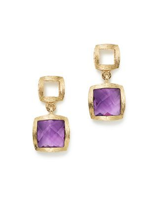 Diamond Amethyst Drop Earrings In 14k Rose Gold 100 Exclusive Bloomingdales S These