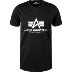 Alpha Industries Herren T-Shirt, Baumwolle, schwarz Alpha Industries Inc.