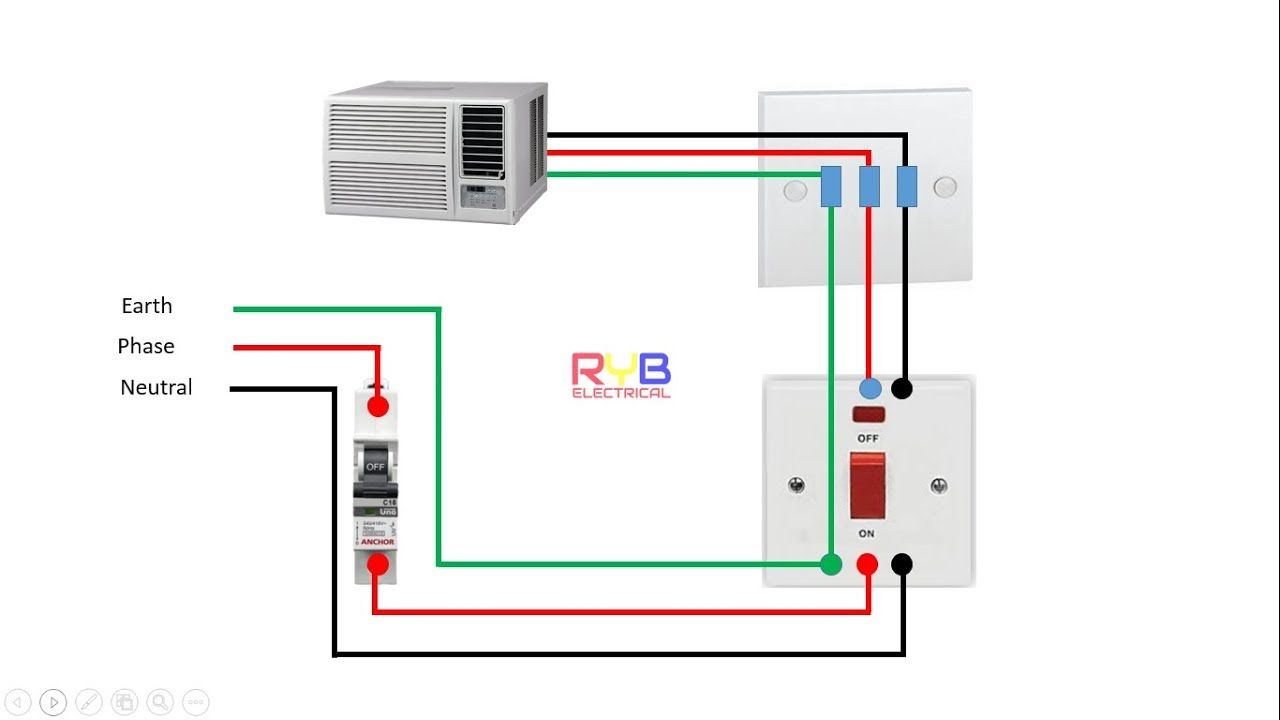 medium resolution of window ac wiring connection diagram ryb electrical house wiring of ac house wiring diagram ac house wiring