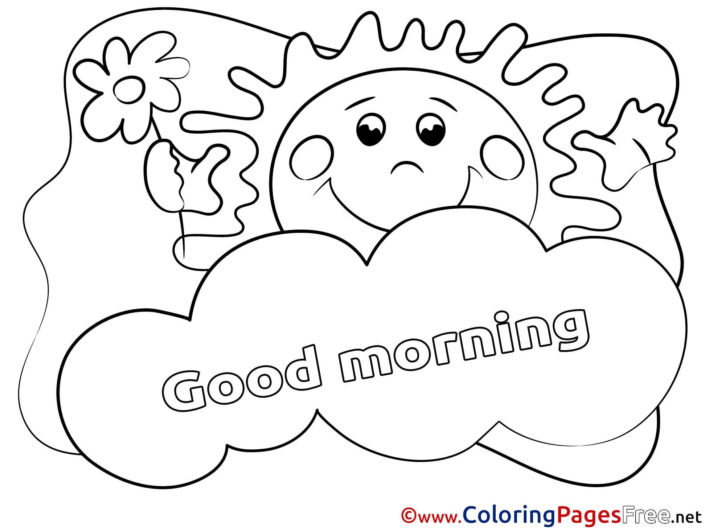 Good Samaritan Coloring Page Fresh Good Morning Coloring