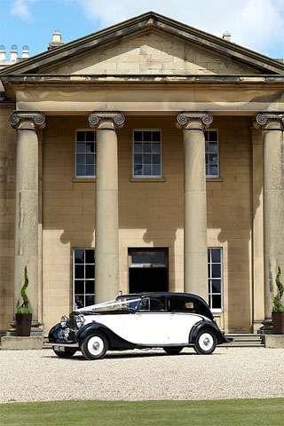 Classic Vintage Wedding Car Rise Hall Yorkshire Wedding Venue