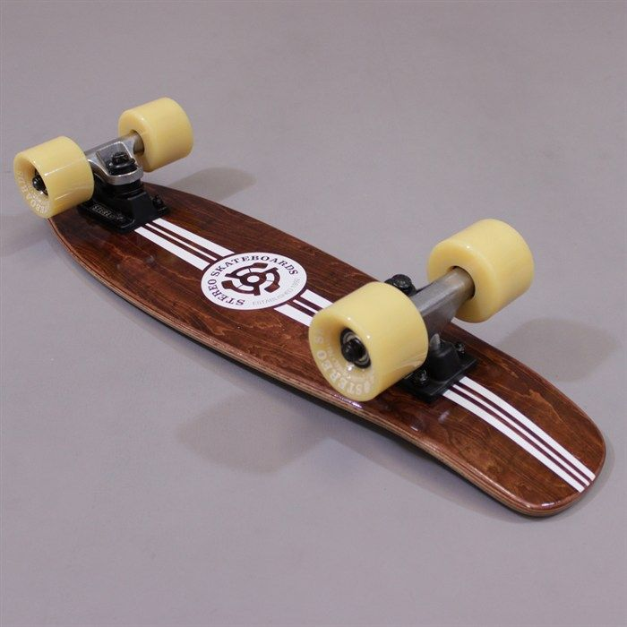Stereo Wooden Vinyl Micro Mini Cruiser Stained Wood Brown