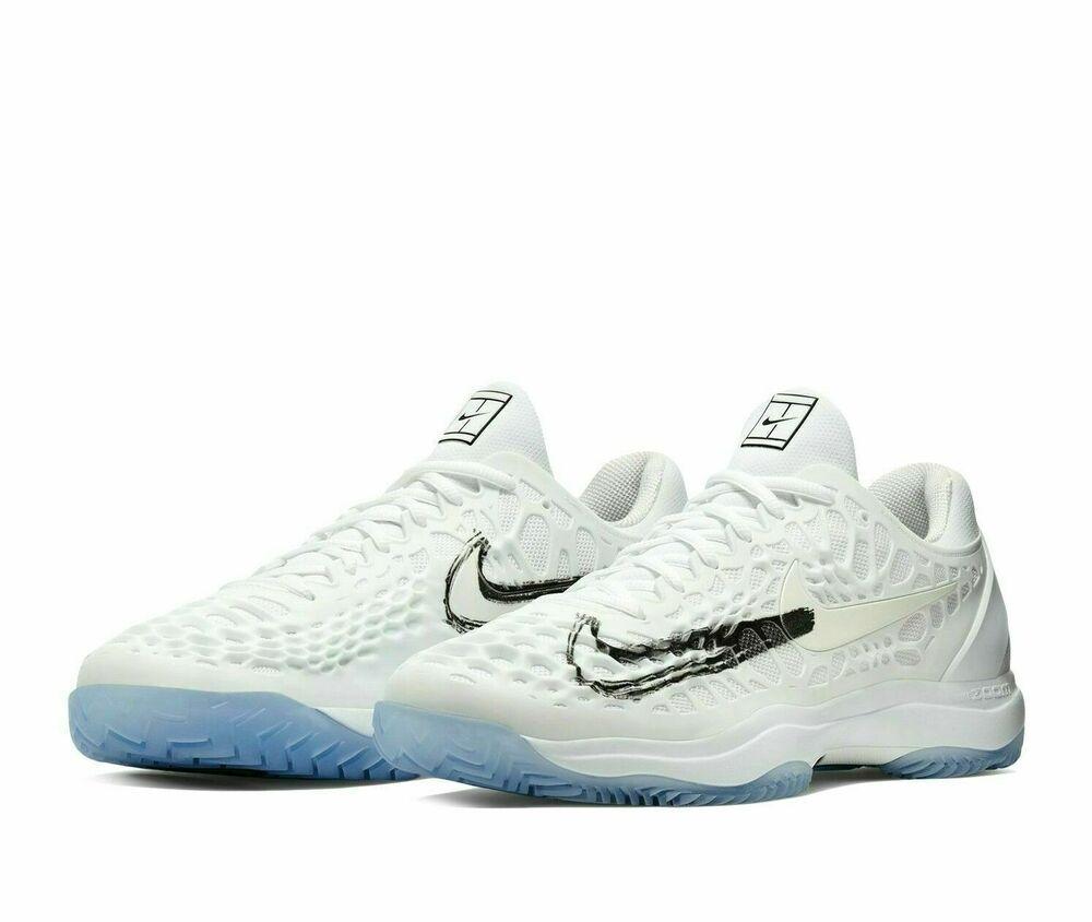 Nike Air Zoom Cage 3 Rafa Tennis Shoes Mens 8 White Metallic Black 918193 105 Nike Casual In 2020 Nike Air Zoom Nike Air Nike Shoes For Sale