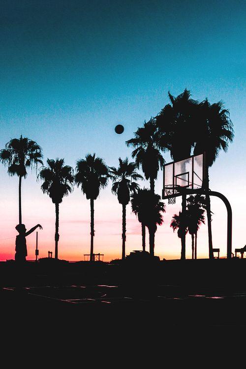 Basketball Summer And Sunset Image Basketball Background Basketball Wallpaper Basketball Pictures