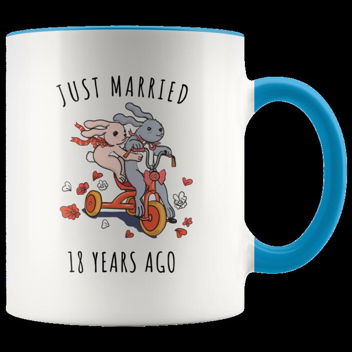 18th Wedding Anniversary Gift Accent Mug 60th wedding