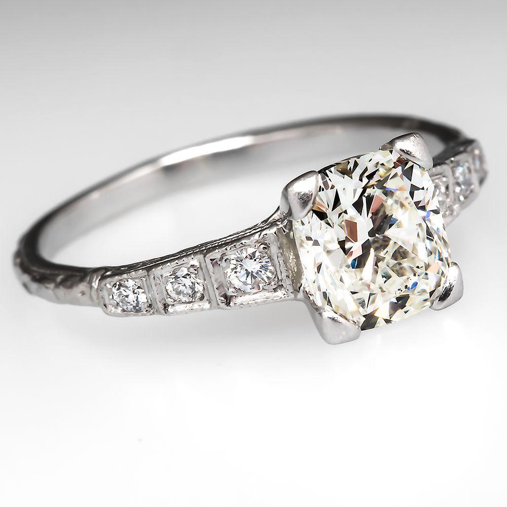 Vintage cushion cut diamond engagement ring from eragem you bet i