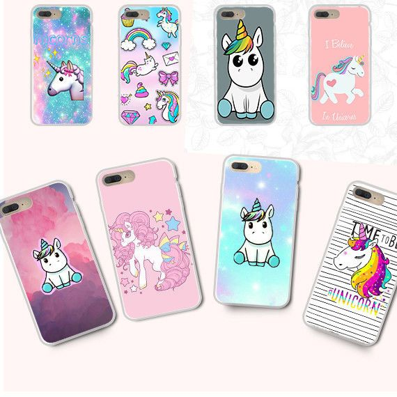 best service f0479 af794 Pattern Soft Silicone Tpu Clear Unicorn Case Cover For Samsung S8 S7 ...