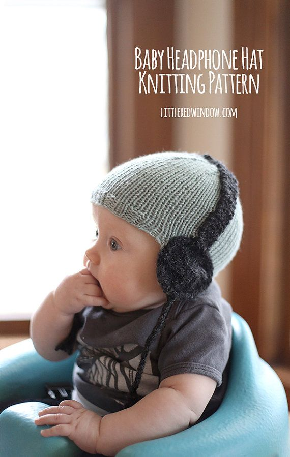 Baby Headphone Hat KNITTING PATTERN / Awesome Baby Gift / Musical ...