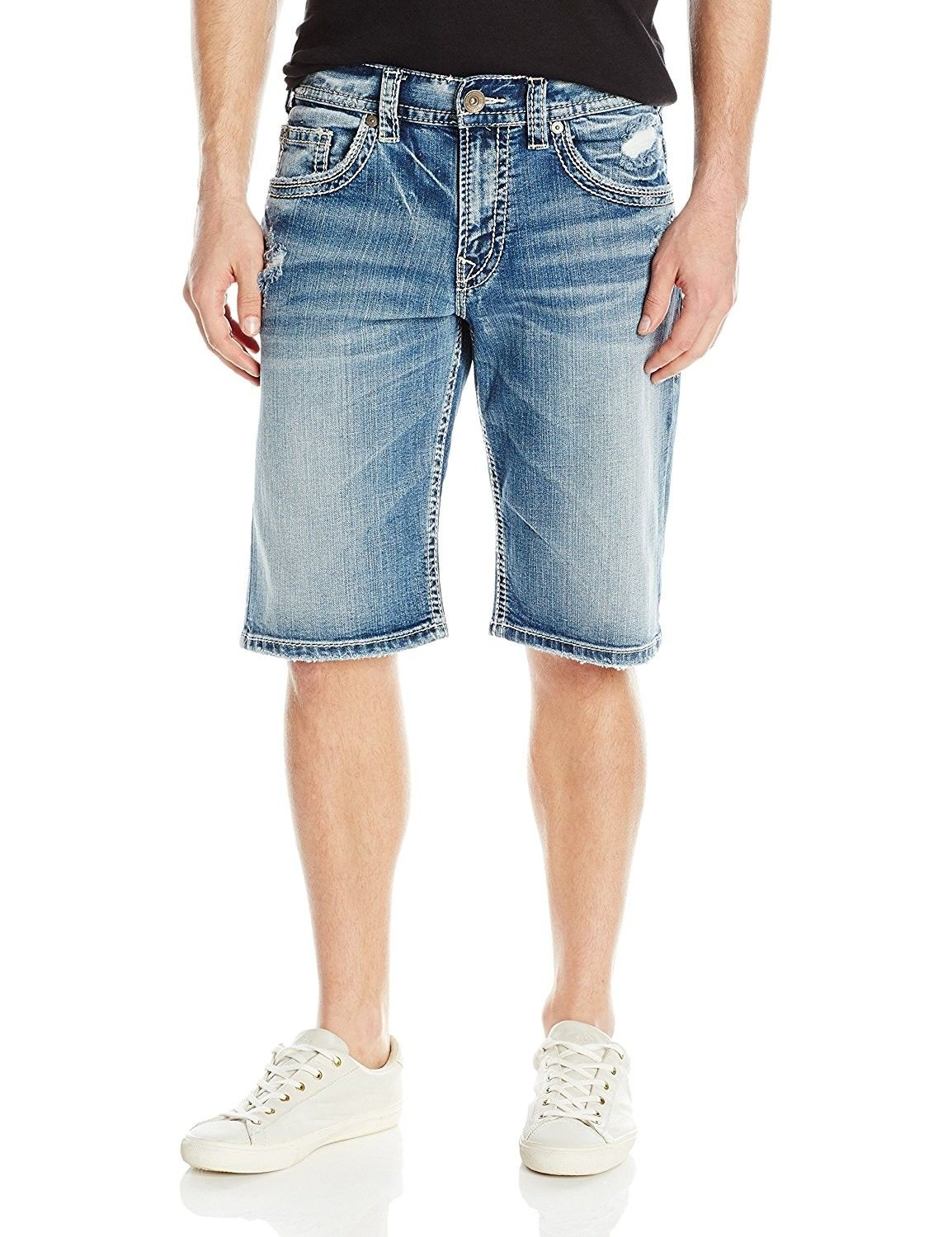 4b1e46c4 Silver Jeans Co. Men's Gordie Loose Fit Jean Shorts - Indigo -  CV12OC2C0MW,Men's Clothing, Shorts #Men #fashion #clothing #outfits #gifts  #Shorts