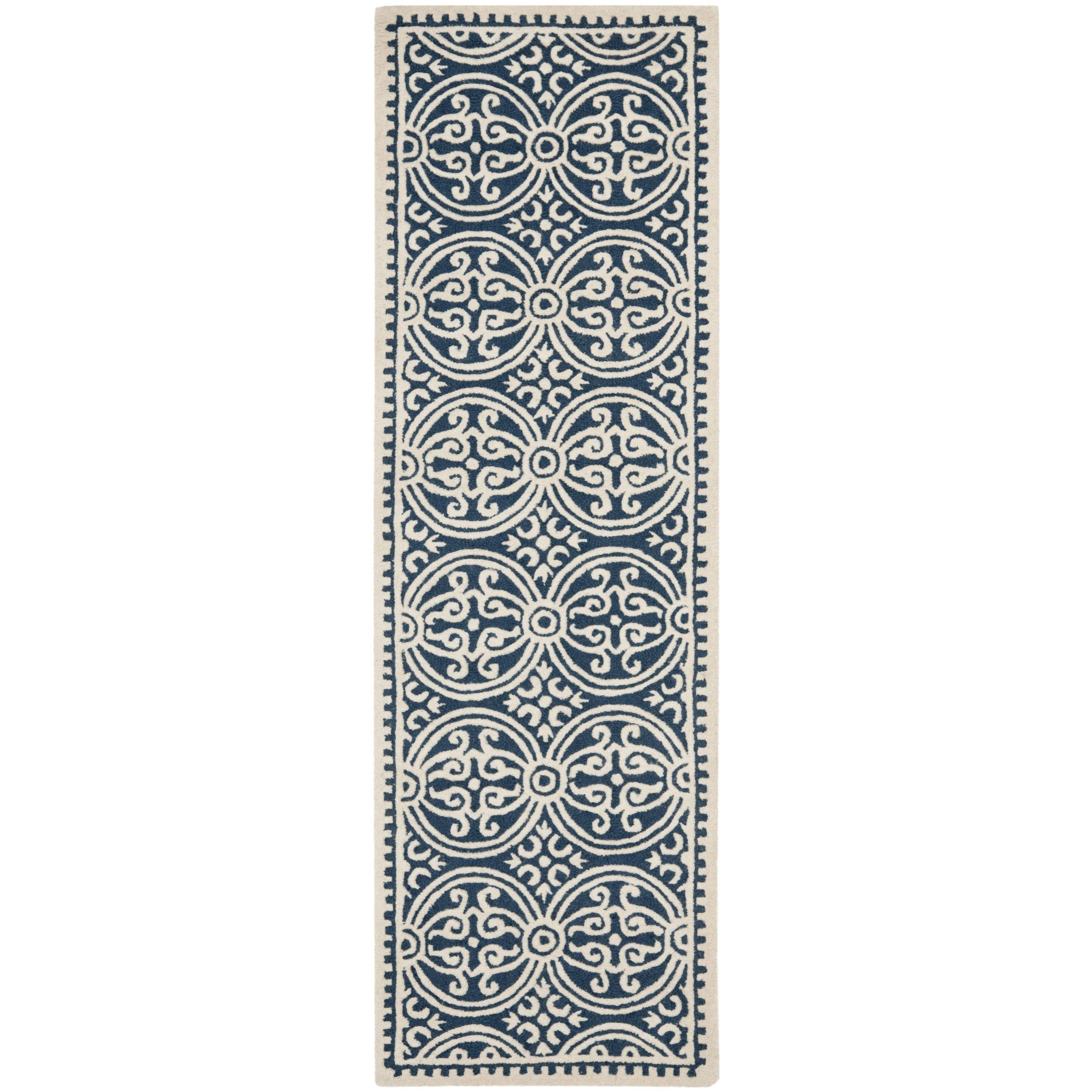 Safavieh Handmade Moroccan Cambridge Navy Blue Wool Rug In 2019 Rug Texture Area Rugs Rugs