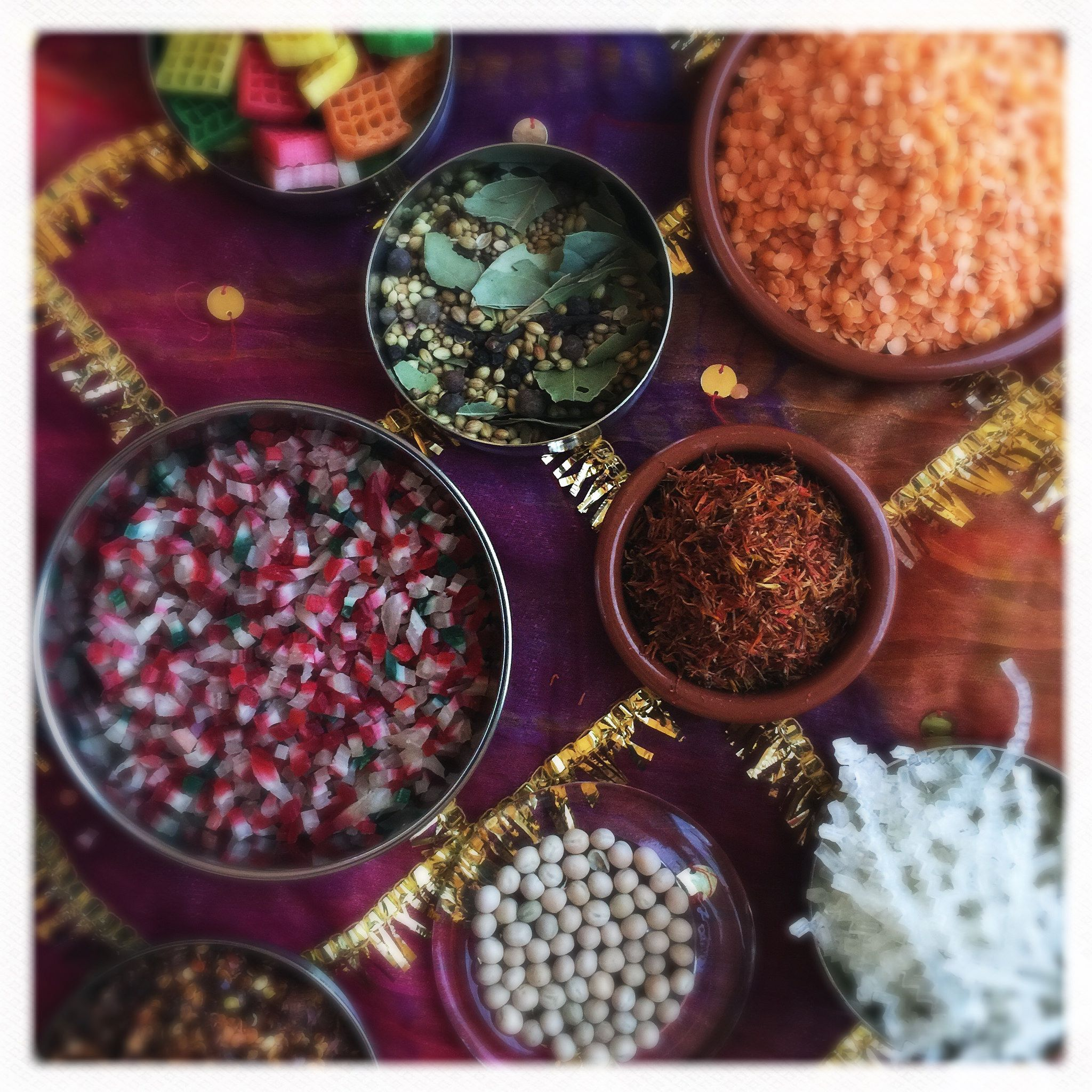 India Cuisine Ingredients Colorful