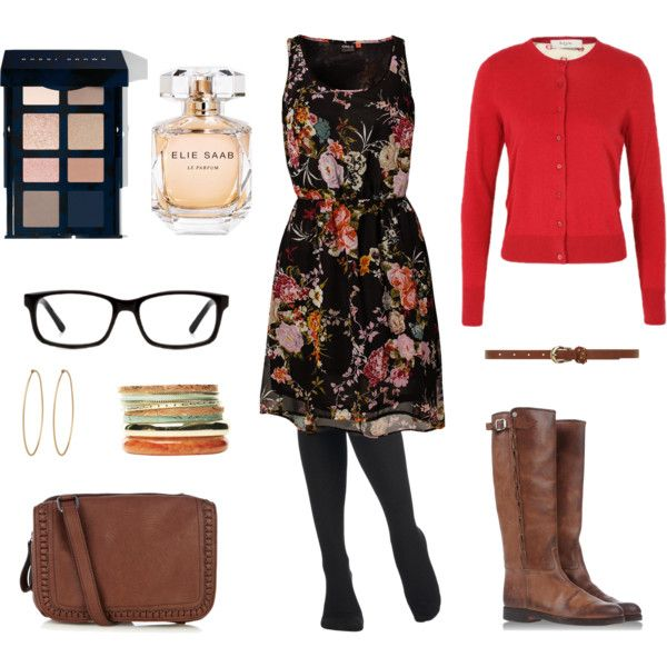 """flowers and fall"" by chamar on Polyvore"