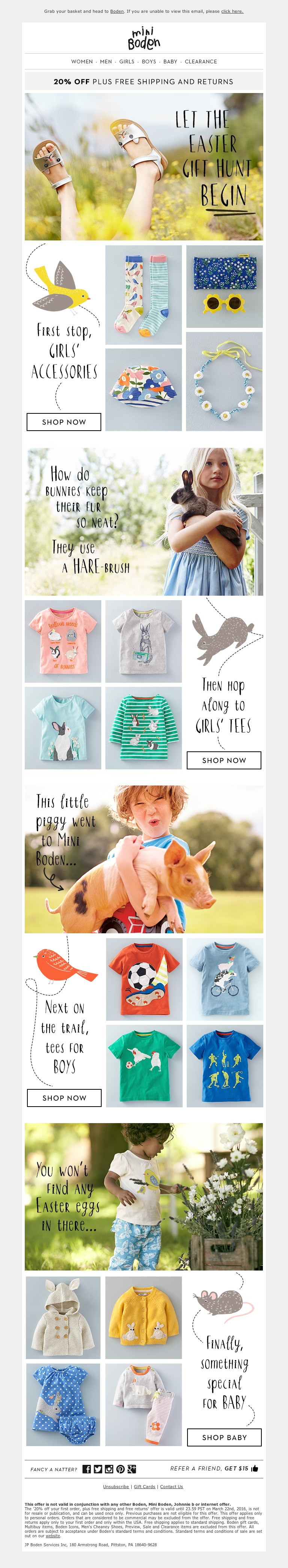 Boden on the hunt for easter gifts email campaigns pinterest boden on the hunt for easter gifts negle Gallery